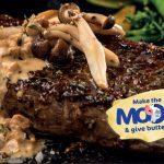 Grilled Sirloin Steak with a Mushroom Peppercorn Cream