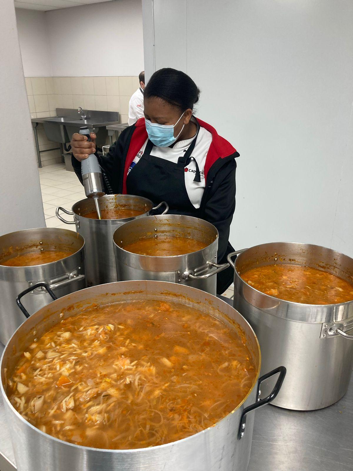 Capsicum Chef preparing soup for Mandela Day