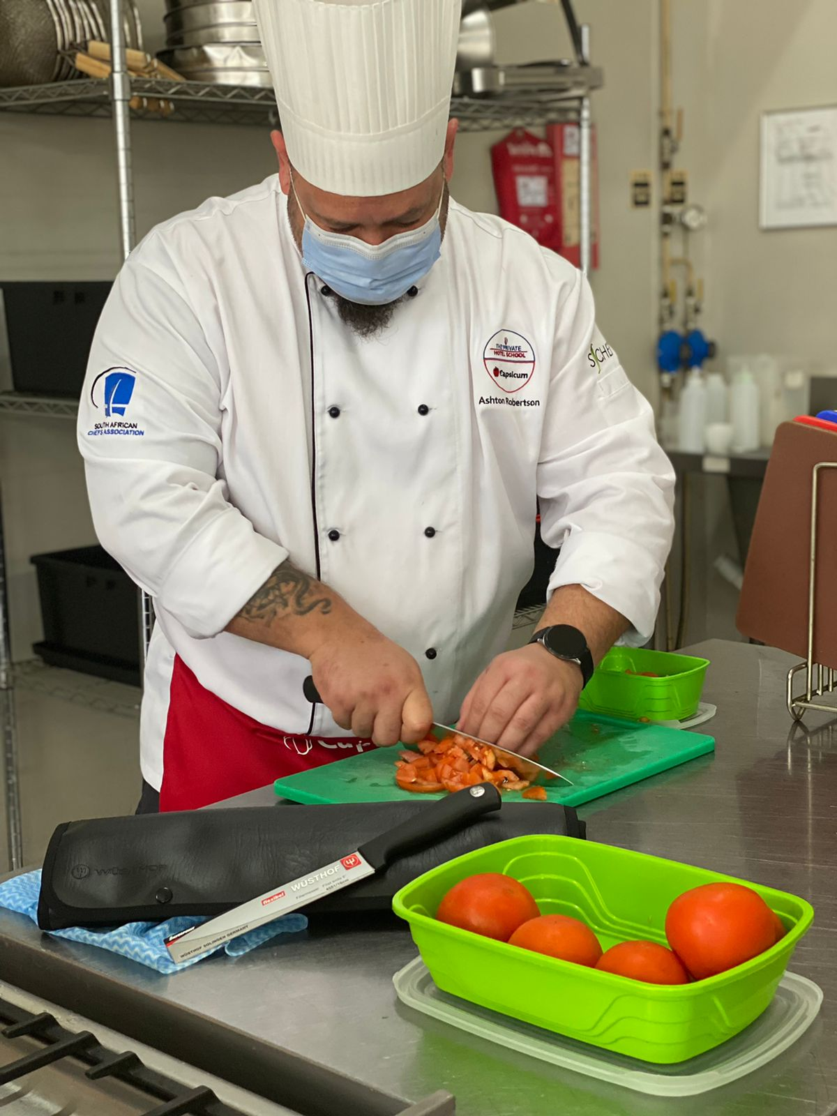 Chef Ashton Robertson from the Cape Town campus