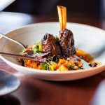 Lamb Shank with Barley Risotto and Butternut
