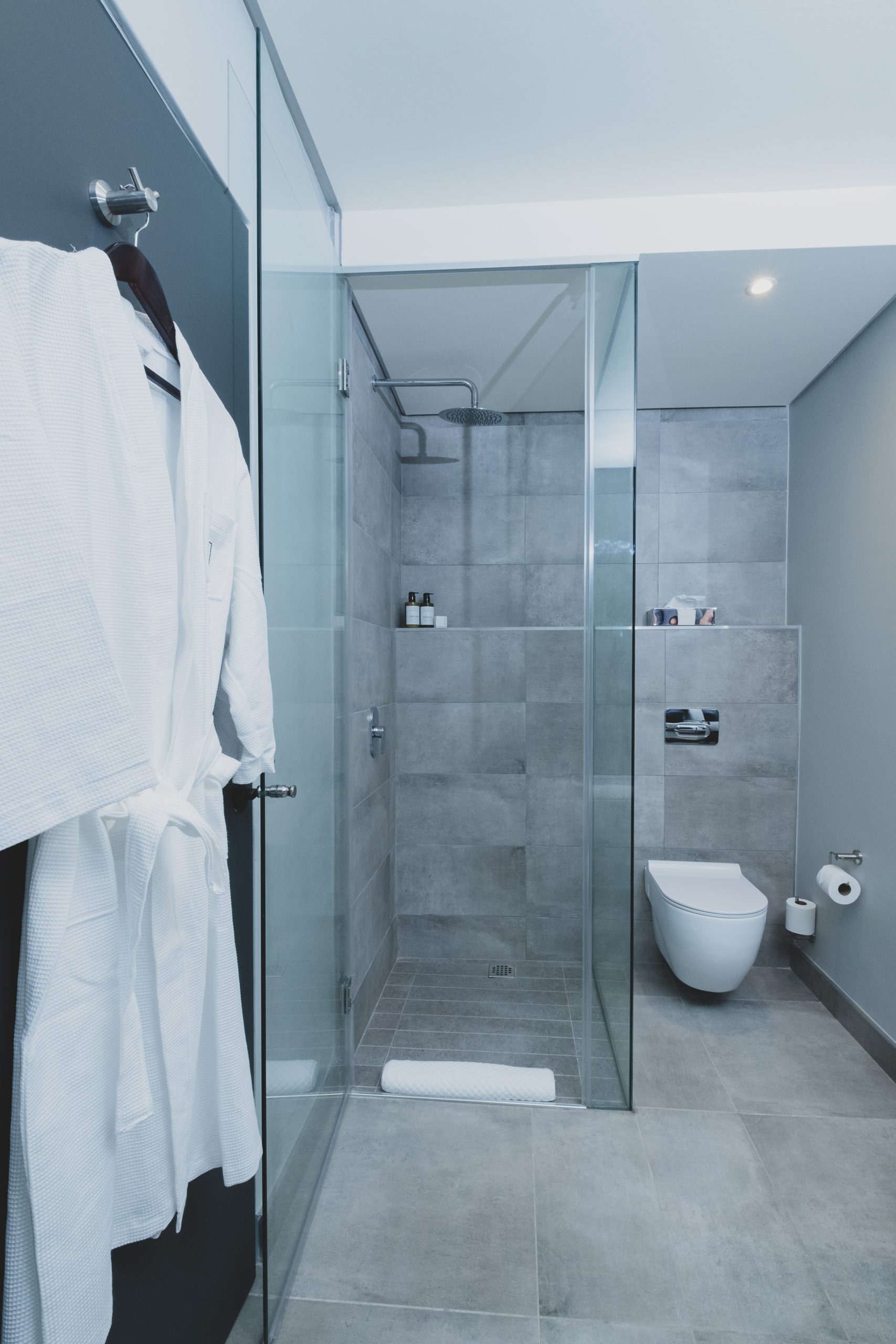 The Catalyst hotel suite shower