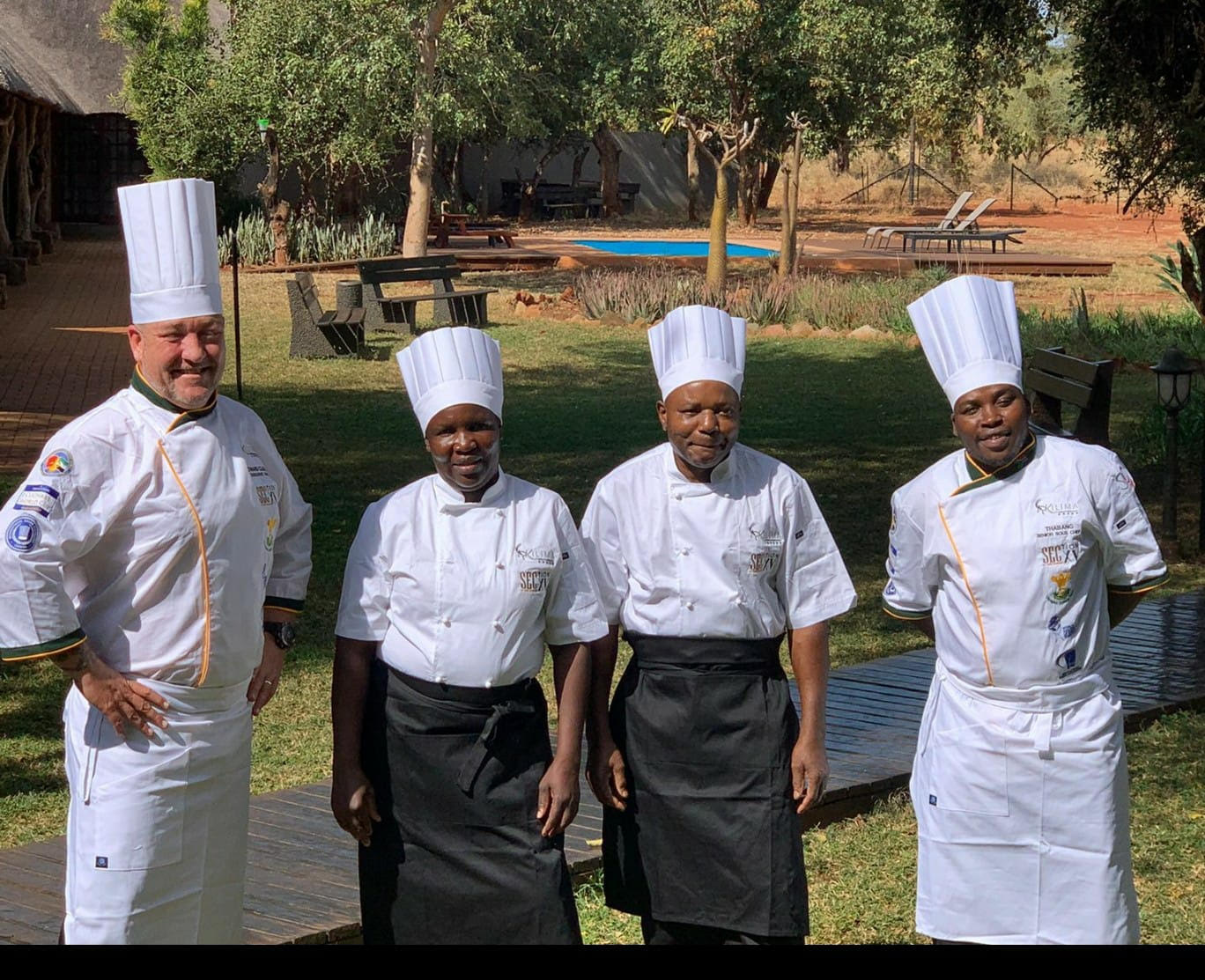 Chef Edward Clegg and with other chefs